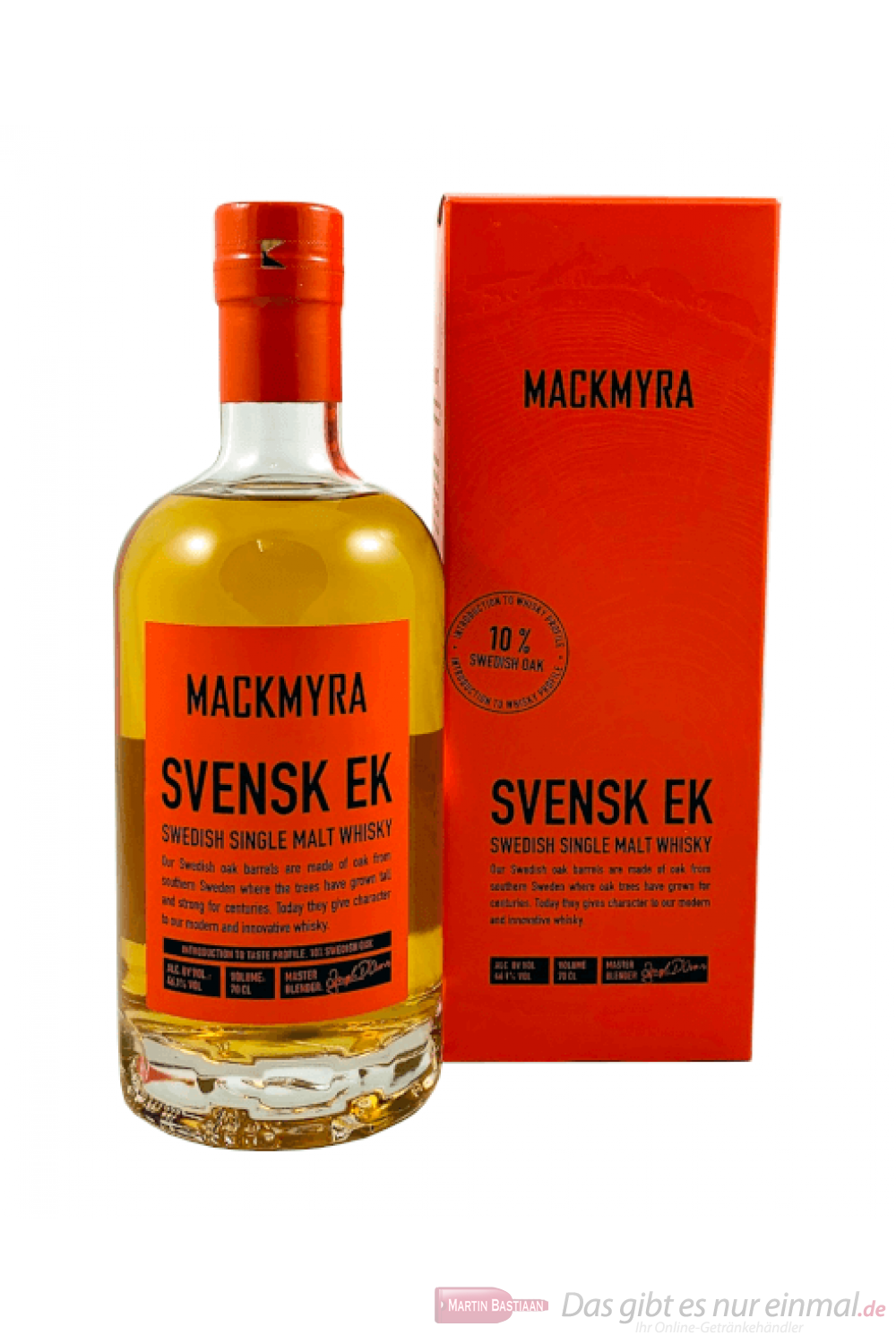 Mackmyra Svensk Ek Swedish Single Malt Whisky 0,7l