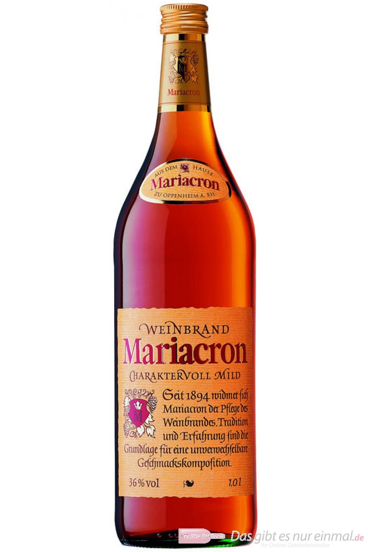 Mariacron Weinbrand 36 % 1,0 l Flasche