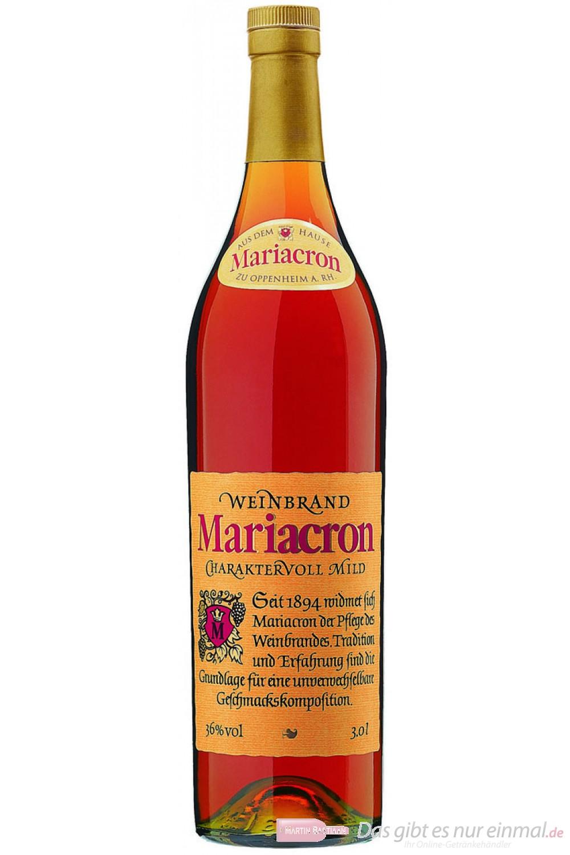Mariacron Weinbrand 36 % 3,0 l Großflasche