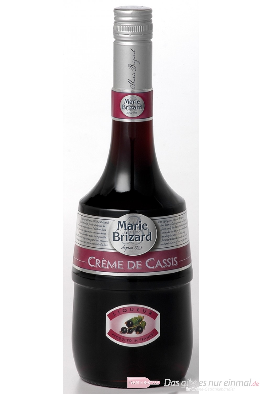 Marie Brizard Crème de Cassis Likör 16% 0,7 l Flasche