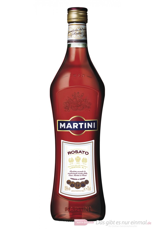 Martini Wermut Rosato Vermouth 15 % 0,75 l Flasche
