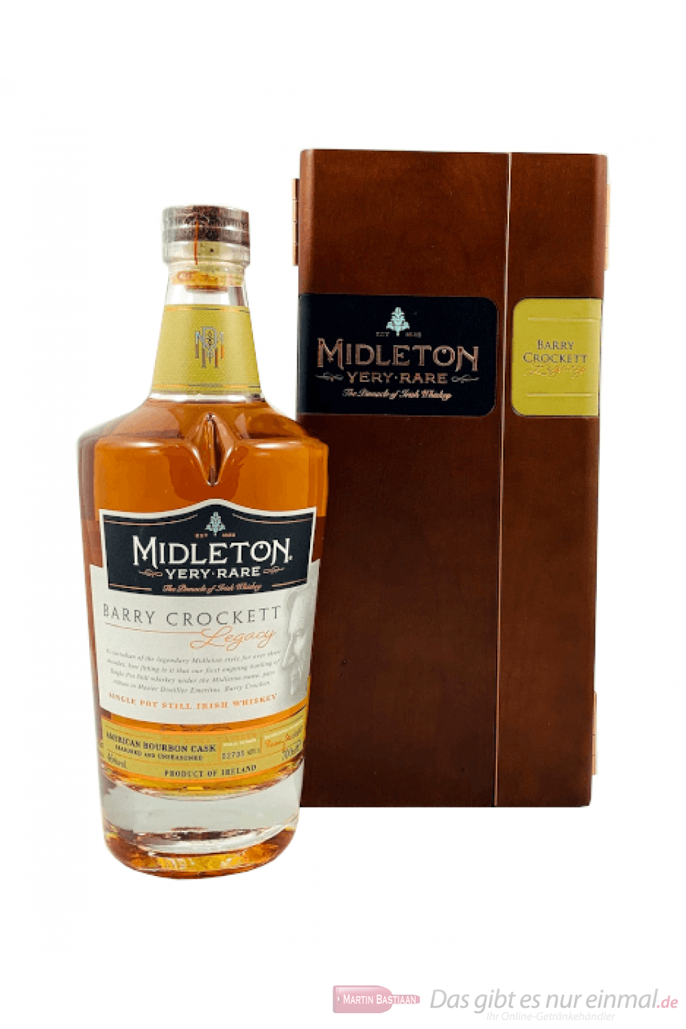 Midleton Barry Crockett Legacy in Holzkiste Irish Whisky 0,7l