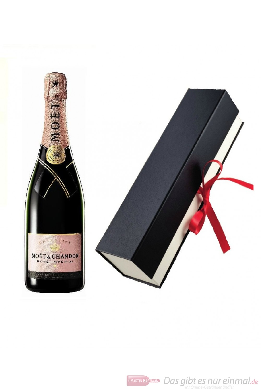Moet & Chandon Champagner Brut Impérial Rosé in hochwertiger Geschenkfaltschachtel