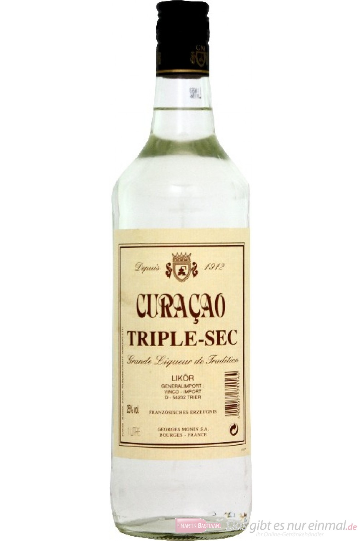 Monin Barlikör Curacao Triple Sec Likör 25% 1,0l Flasche
