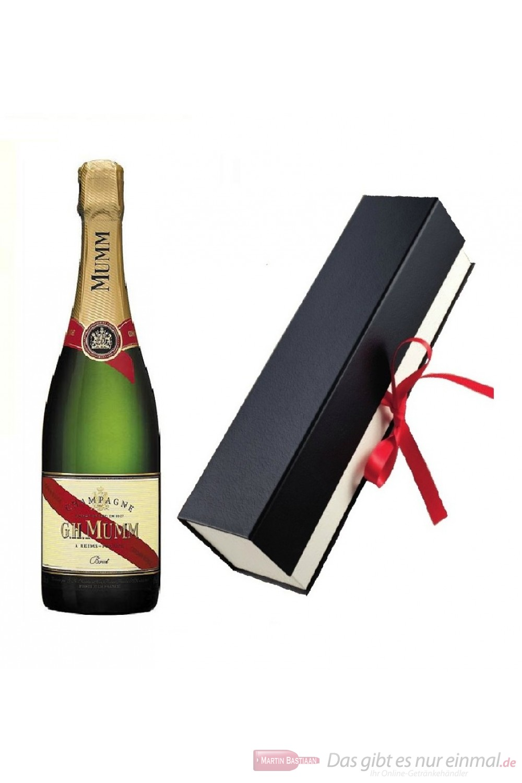 Mumm Cordon Rouge Champagner in Geschenkfaltschachtel