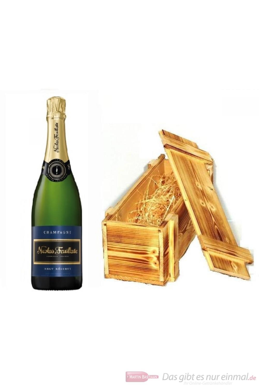 Nicolas Feuillatte Champagner Holzkiste