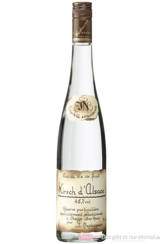 Nusbaumer Kirsch Obstbrand 45% 0,7l Obstler Flasche