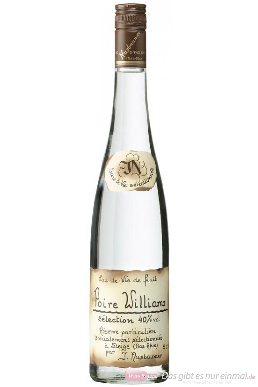 Nusbaumer Poire Williams Obstbrand 40% 0,7 l Obstler Flasche