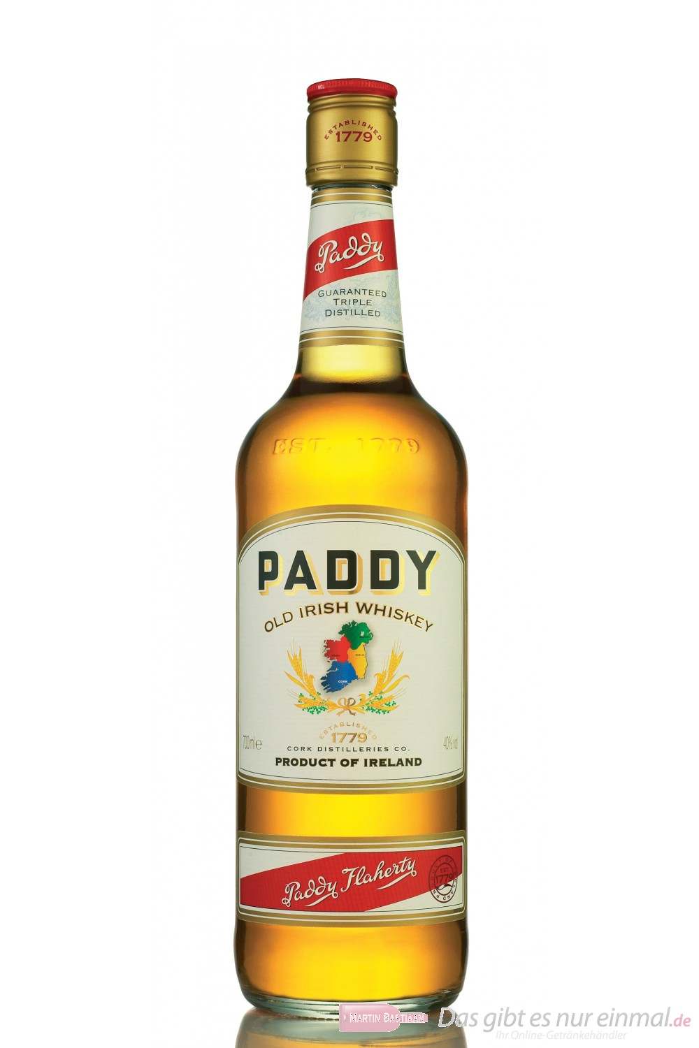 Paddy Irish Whiskey 40% 0,7l Flasche
