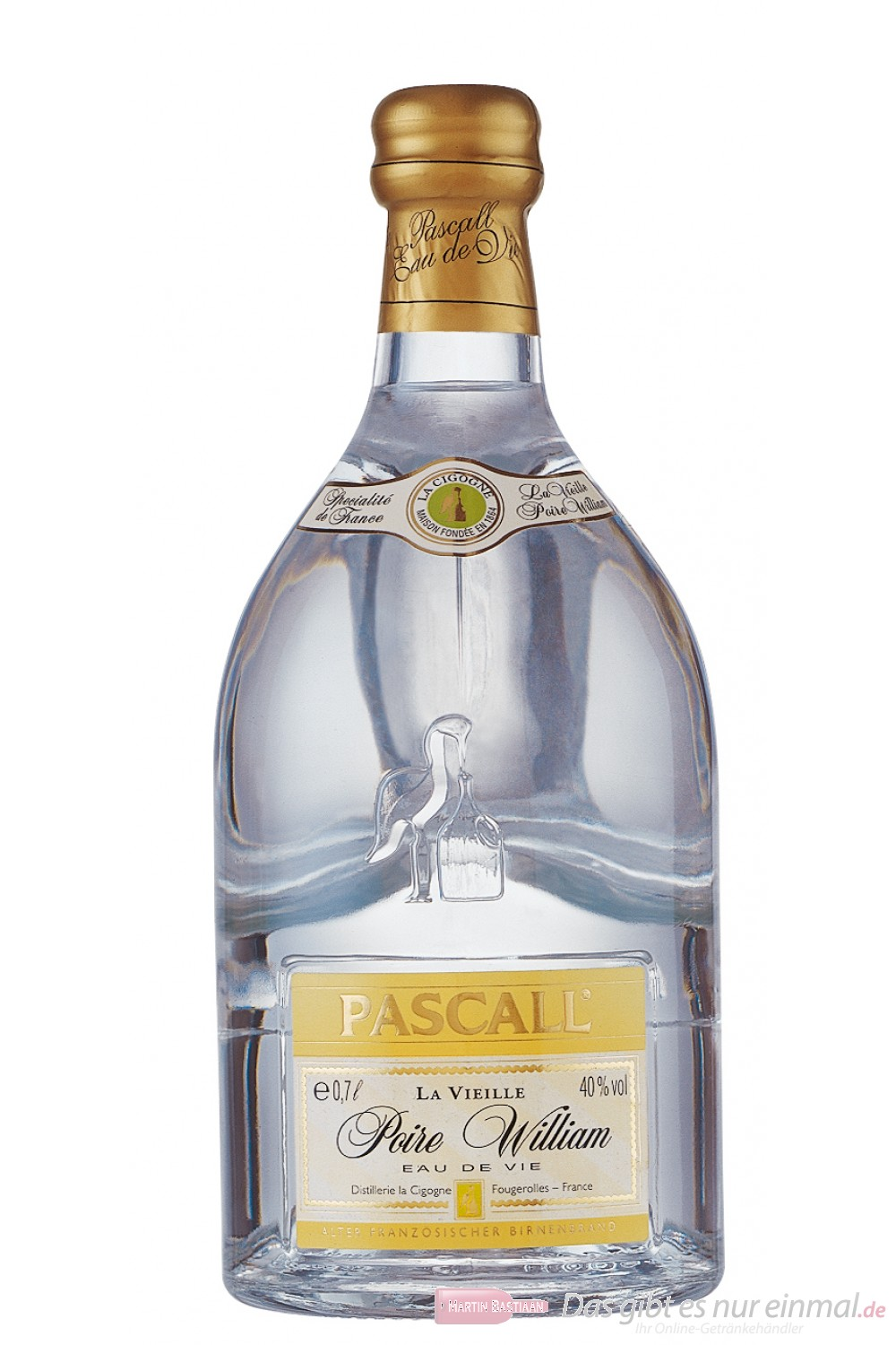 Pascall Poire William Obstbrand 40% 0,7l Flasche Obstler