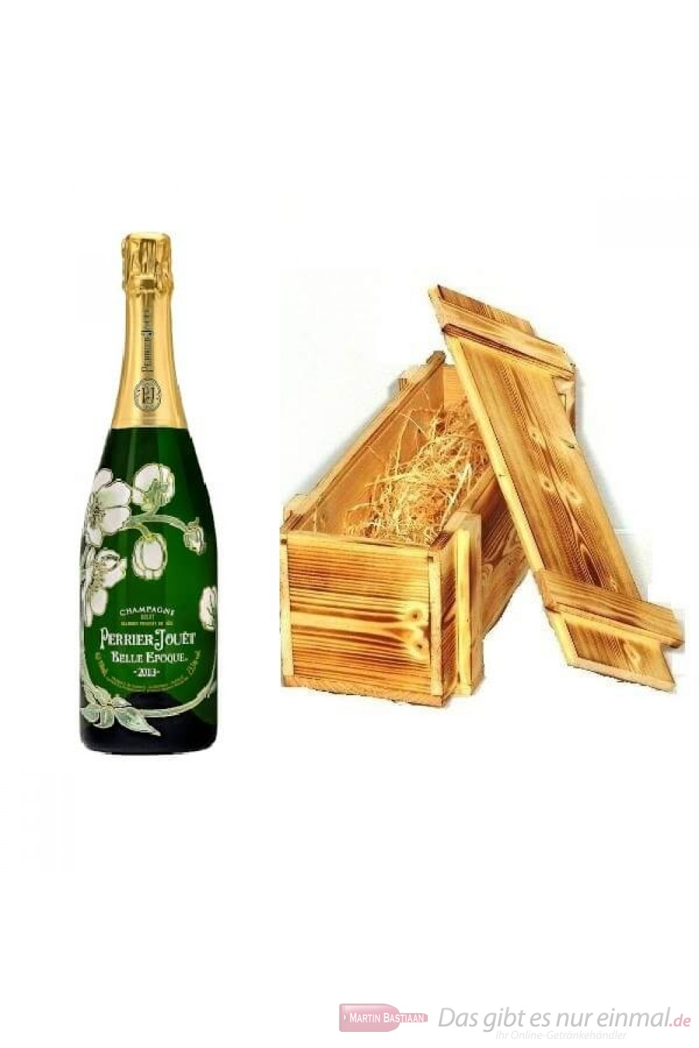 Perrier Jouet Champagner Belle Epoque 2013 in Holzkiste 0,75l