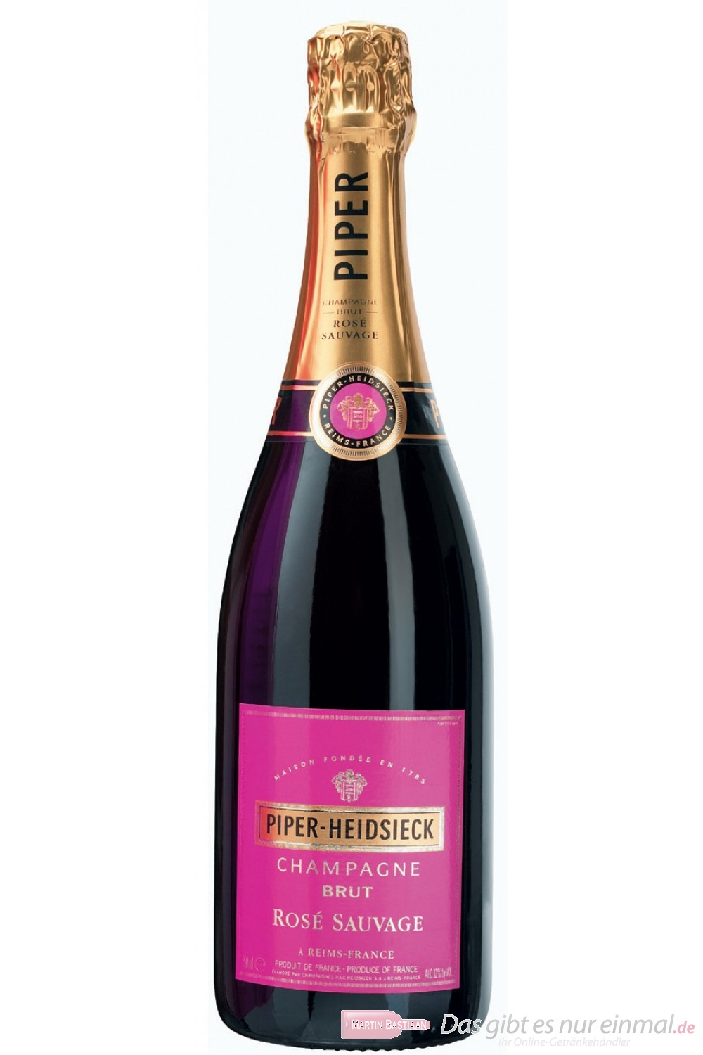 Piper Heidsieck Champagner Rosé Sauvage 12% 0,75l Flasche