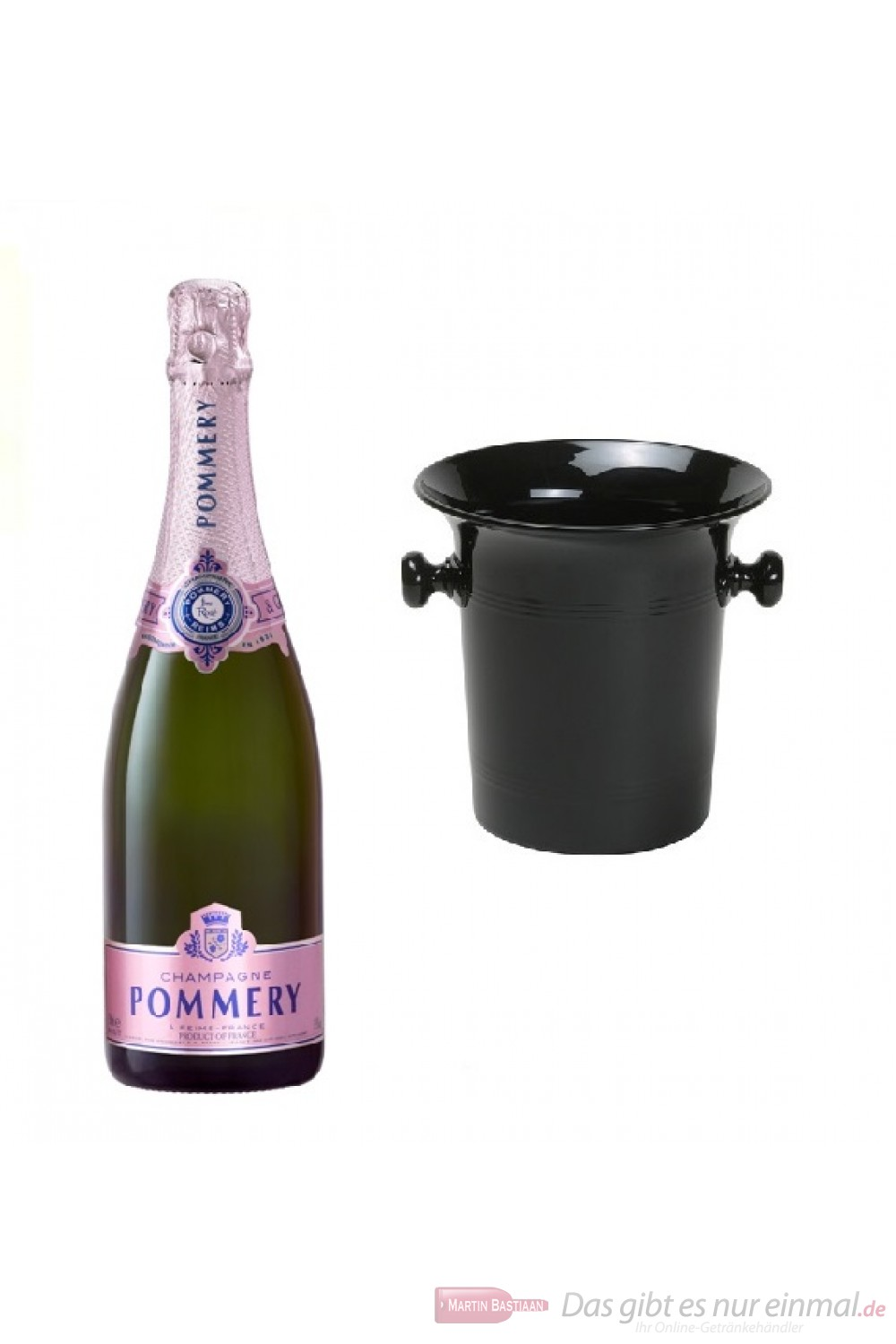 Pommery Champagner Rose in Kübel