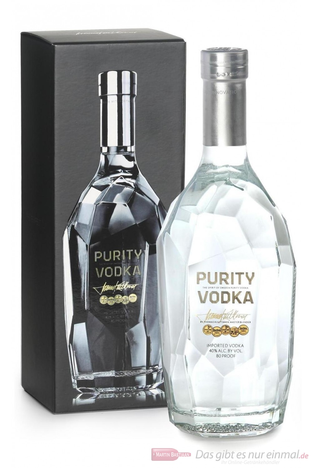 Purity Vodka 40% 1,75l Flasche Wodka