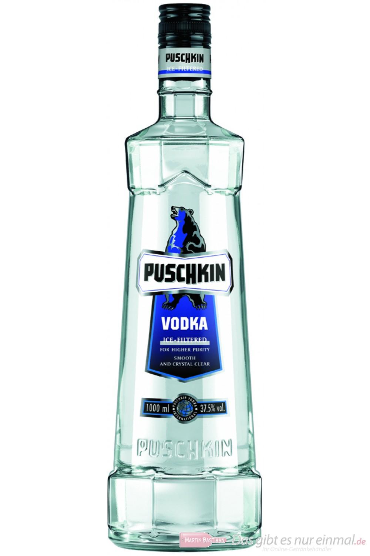 Puschkin Wodka 37,5 % 1,0 l Vodka Flasche