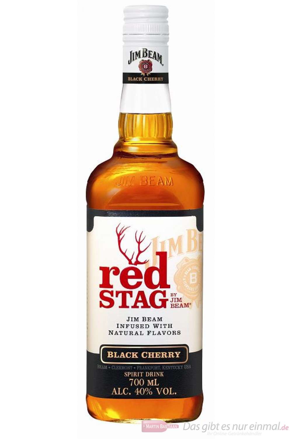 Red Stag Bourbon by Jim Beam Spirituose 40% 0,7l Flasche