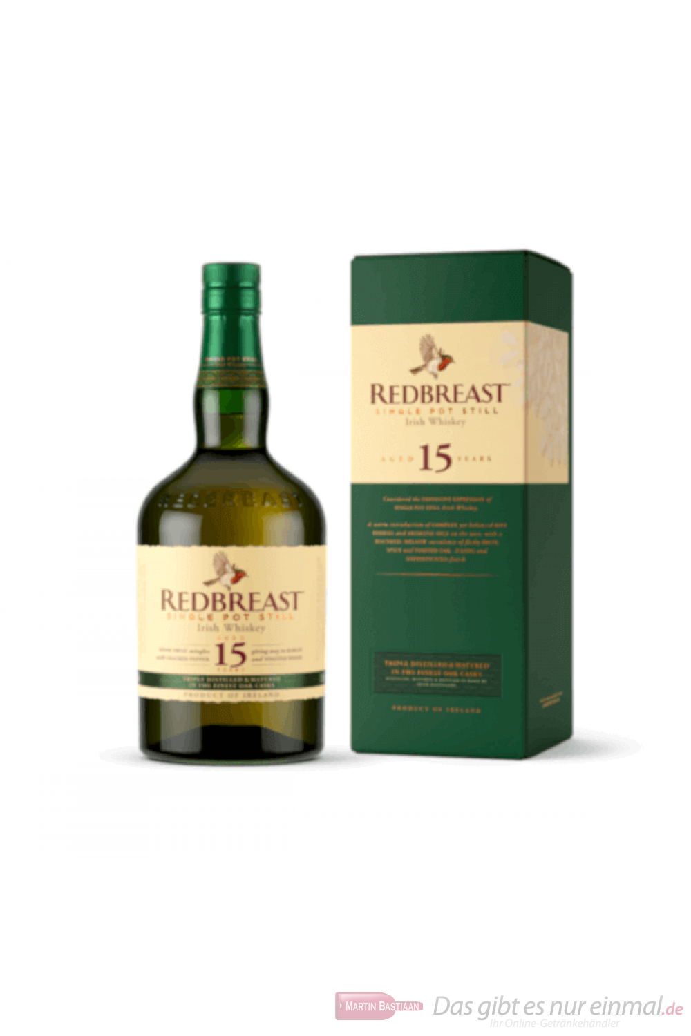 Redbreast 15 Years Single Pot Still Irish Whiskey 0,7l