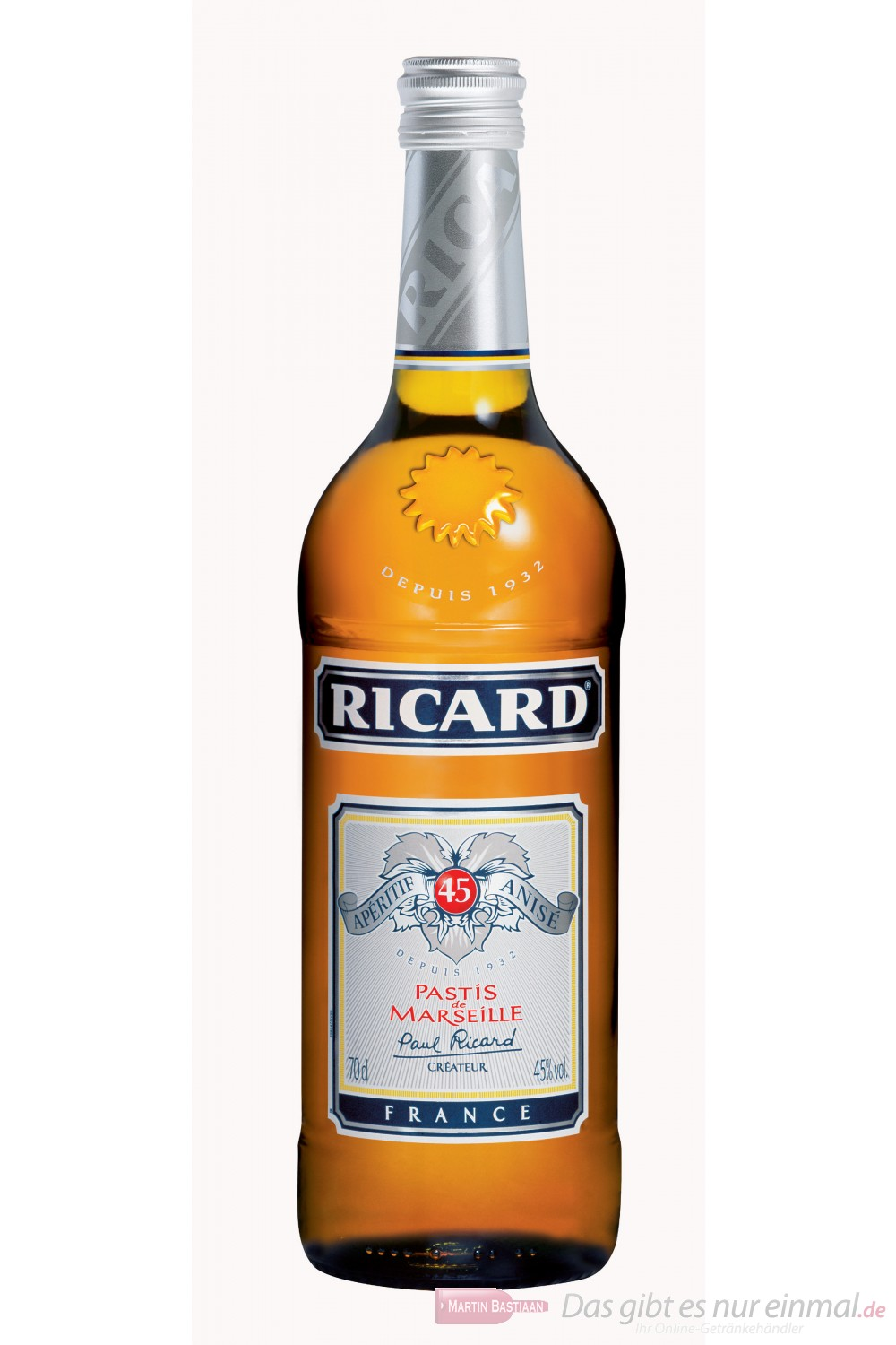 Ricard 45 % Anis 0,7 l Flasche