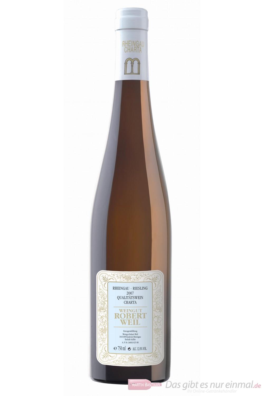 Robert Weil Riesling Charta Qba trocken Weißwein 2010 12% 0,75l Flasche