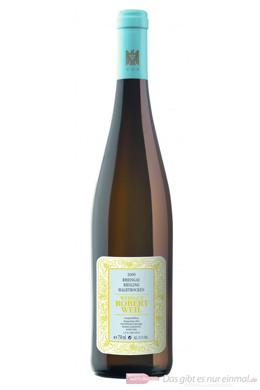 Robert Weil Riesling Qba halbtrocken Weißwein 2011 11% 0,75l Flasche