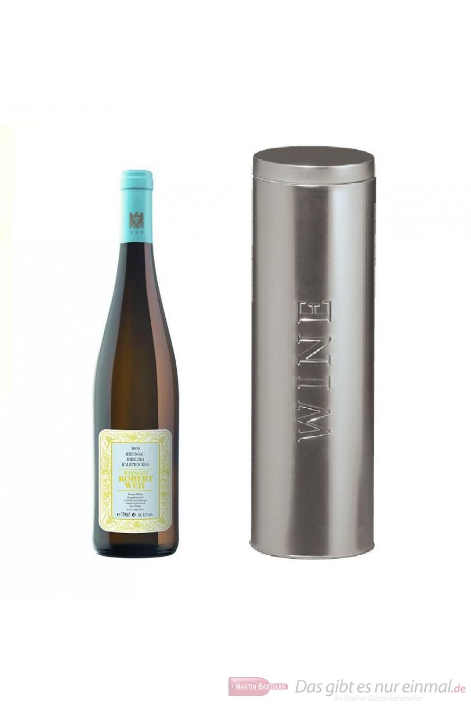 Robert Weil Riesling Qba halbtrocken Weißwein 2011 11% 0,75l Flasche in Metalldose Wine