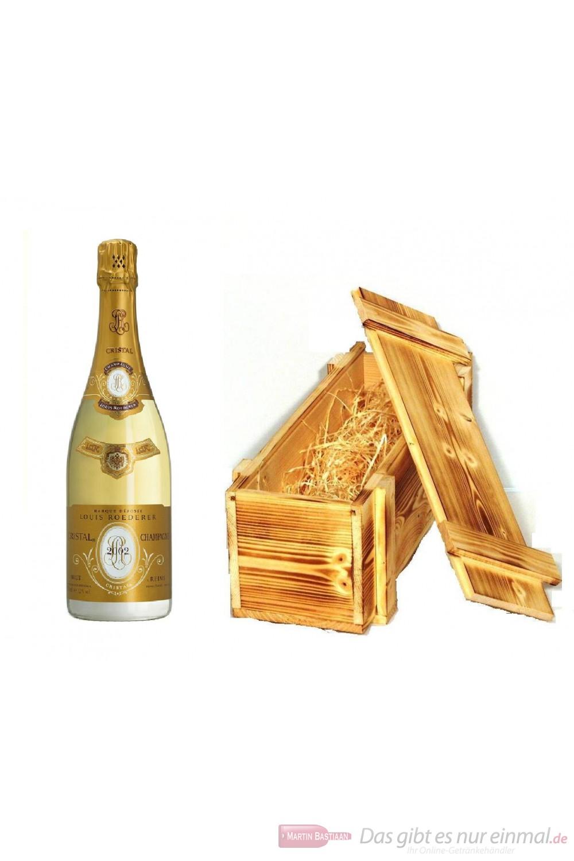 Roederer Cristal 2004 Champagner in Holzkiste geflammt 12% 0,75l Flasche