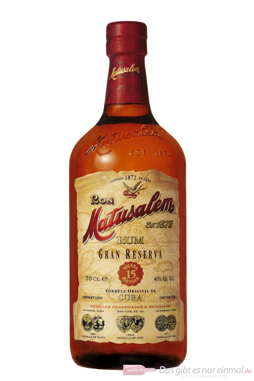 Ron Matusalem Gran Reserva 15 years Rum 40% 0,7l Flasche