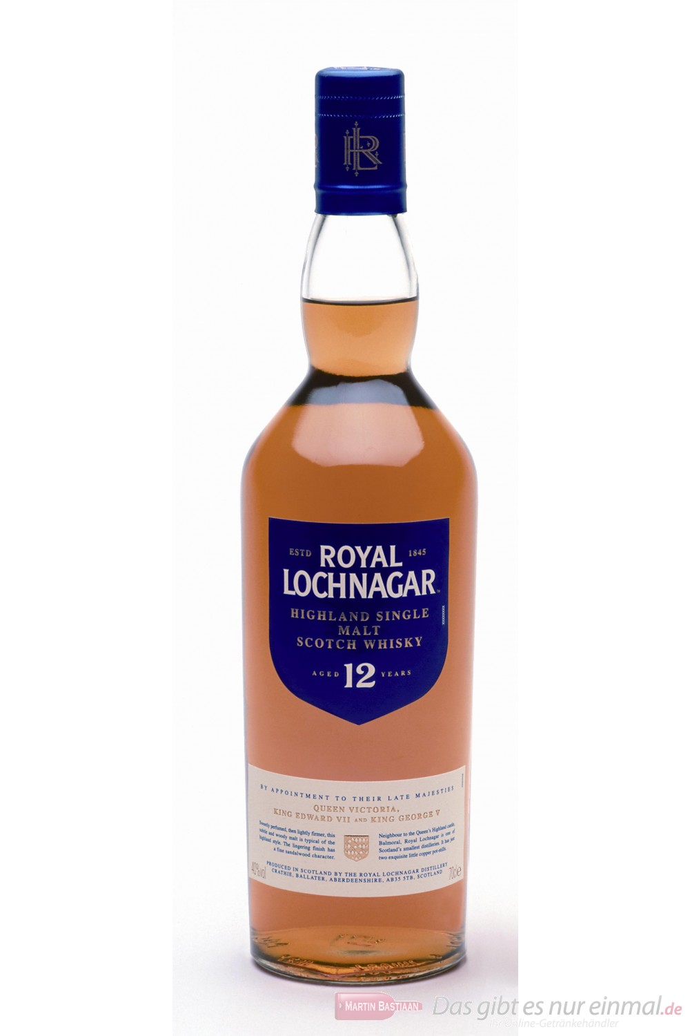 Royal Lochnagar Single Highland Malt Scotch Whisky 40% 0,7l Flasche