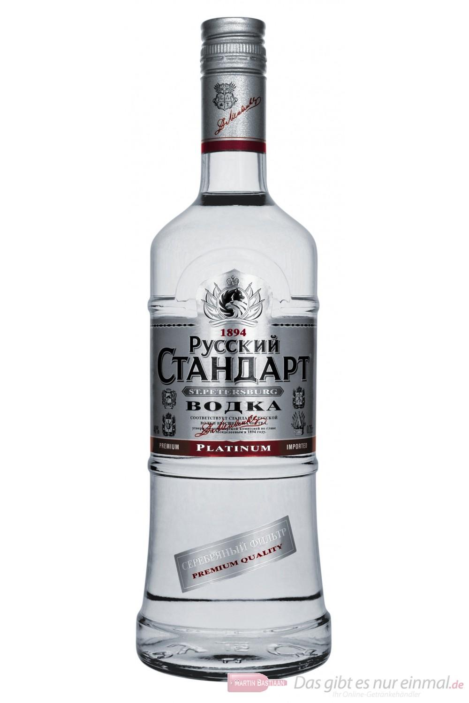 Russian Standard Platinum Wodka 40 % 0,7 l Flasche