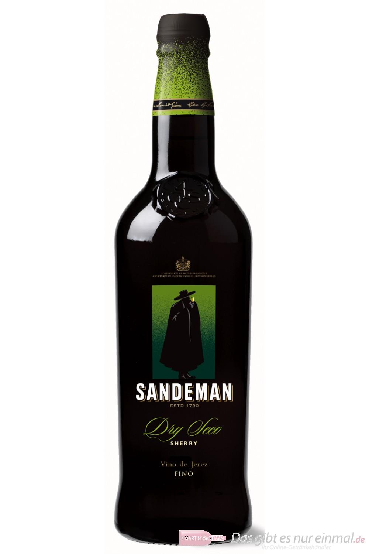 Sandeman Dry Seco Fino Sherry 15 % 0,75 l Flasche