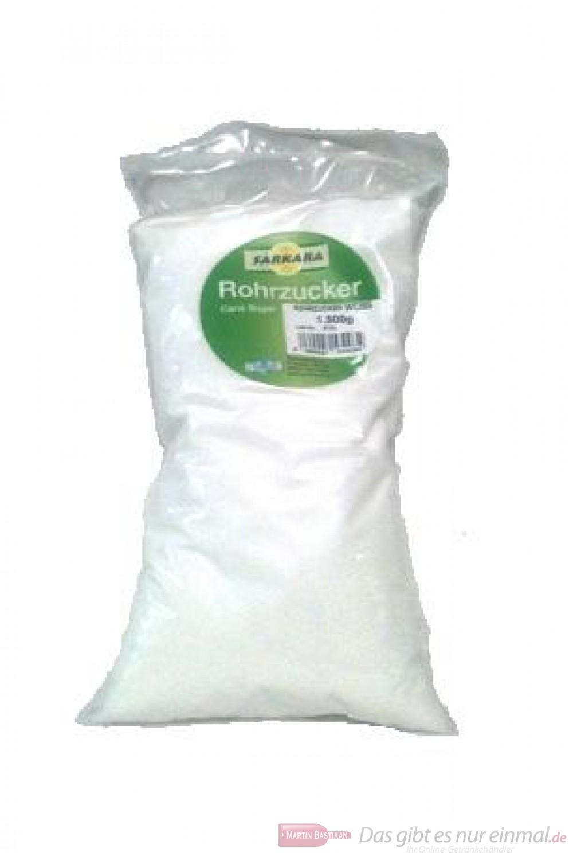 Sarkara weißer Rohrzucker im Polyester Beutel 1,5 Kg