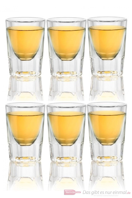 6 Whisky Shot Gläser
