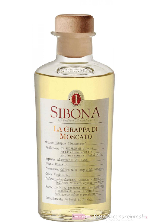 Sibona Grappa di Moscato 0,5l