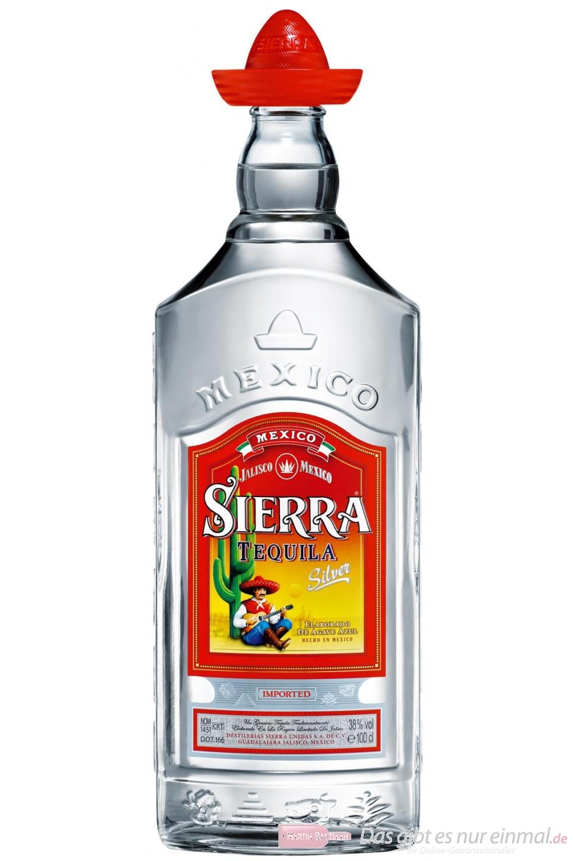 Sierra Tequila Silver 38 % 1,0 l Flasche