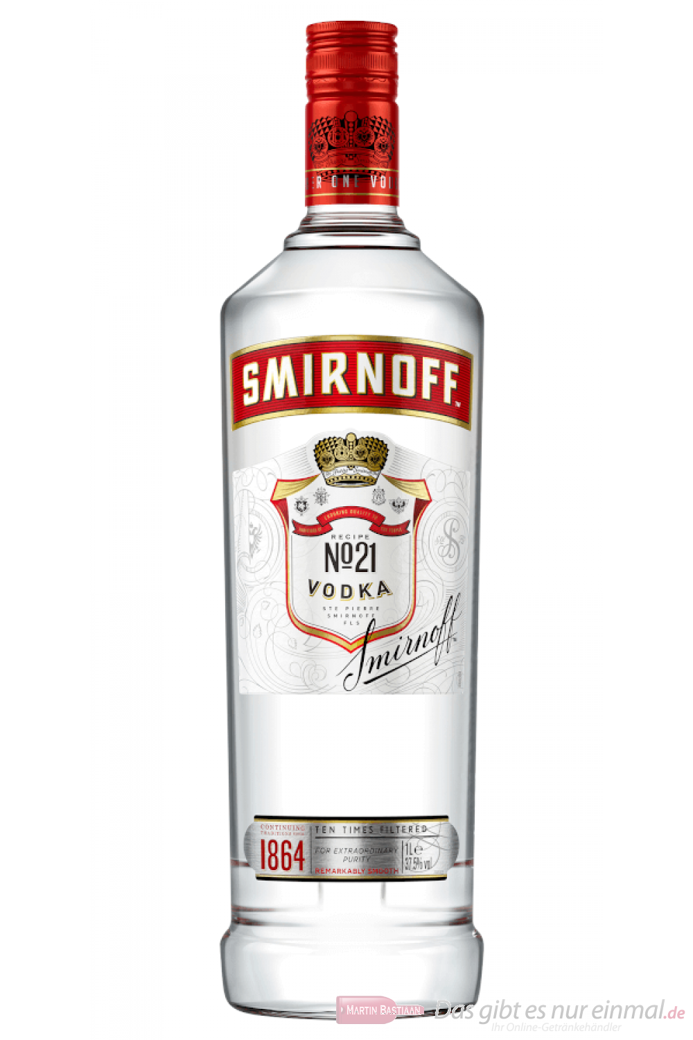 Smirnoff Vodka red Label No.21 1,0 l
