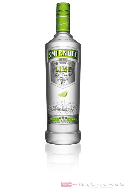 Smirnoff Lime Wodka 37,5% 0,7l Flasche