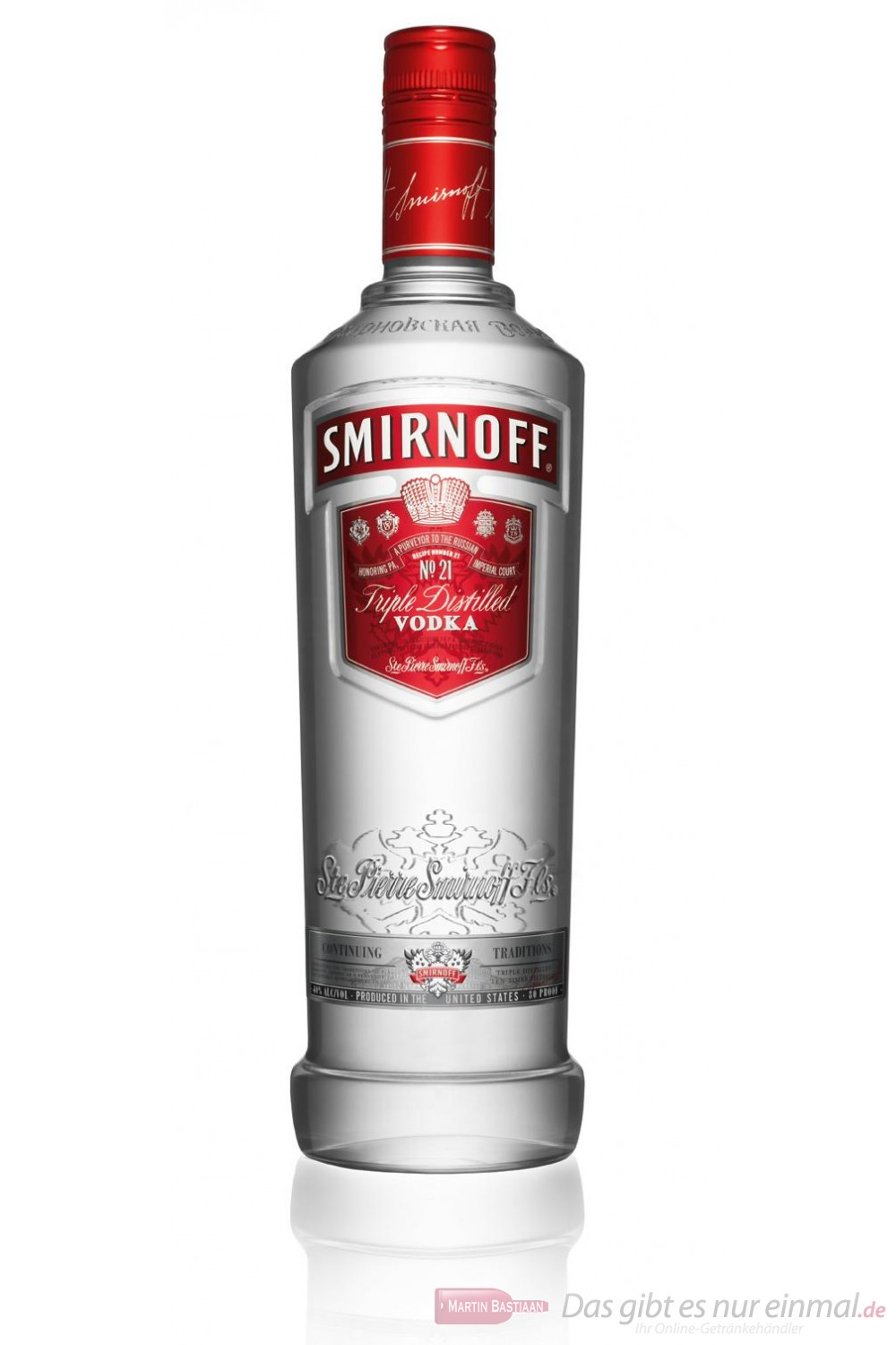 Smirnoff Wodka red Label No.21 37,5 % 1,0 l Vodka Flasche