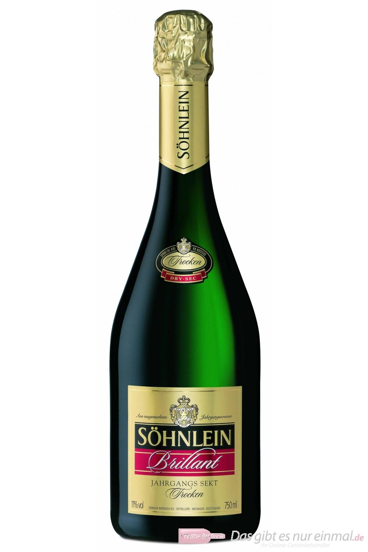 Söhnlein Brillant Trocken Sekt 11 % 6-0,75 l Flaschen