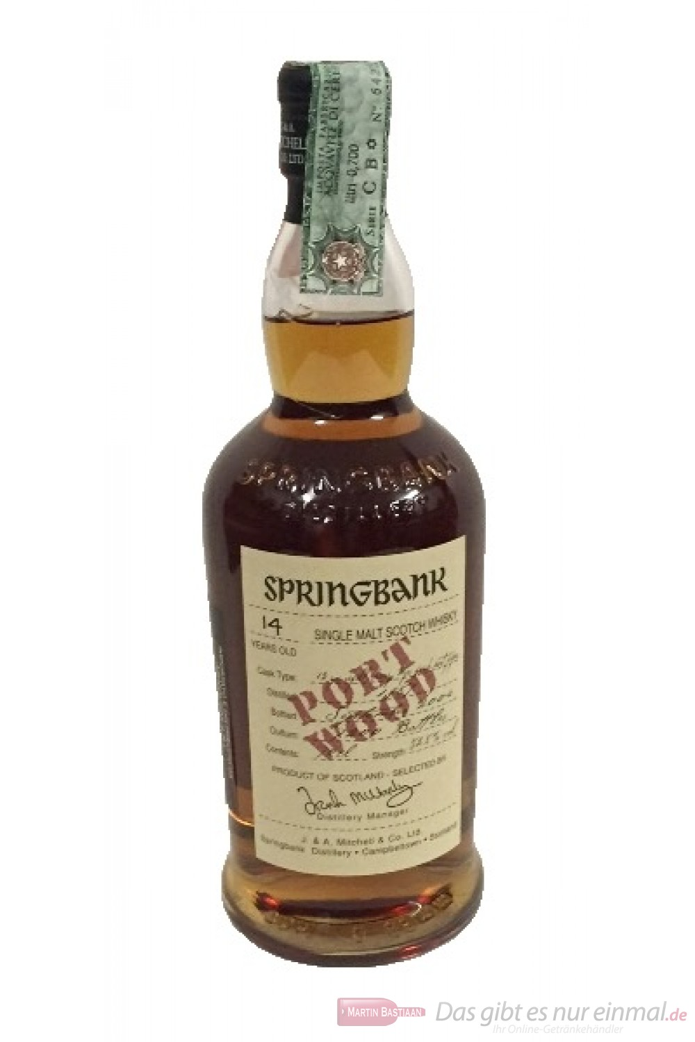 Springbank 14 Years Port Wood