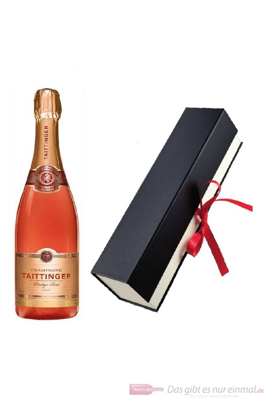 Taittinger Champagner Rosé in Geschenkfaltschachtel