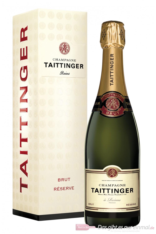 Taittinger Champagner Brut Réserve GP 12% 0,75l Flasche