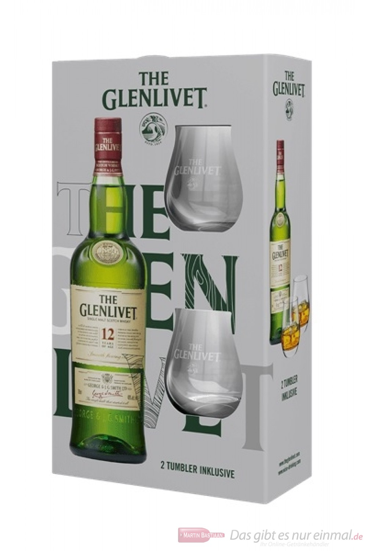 The Glenlivet 12 years mit 2 Gläsern