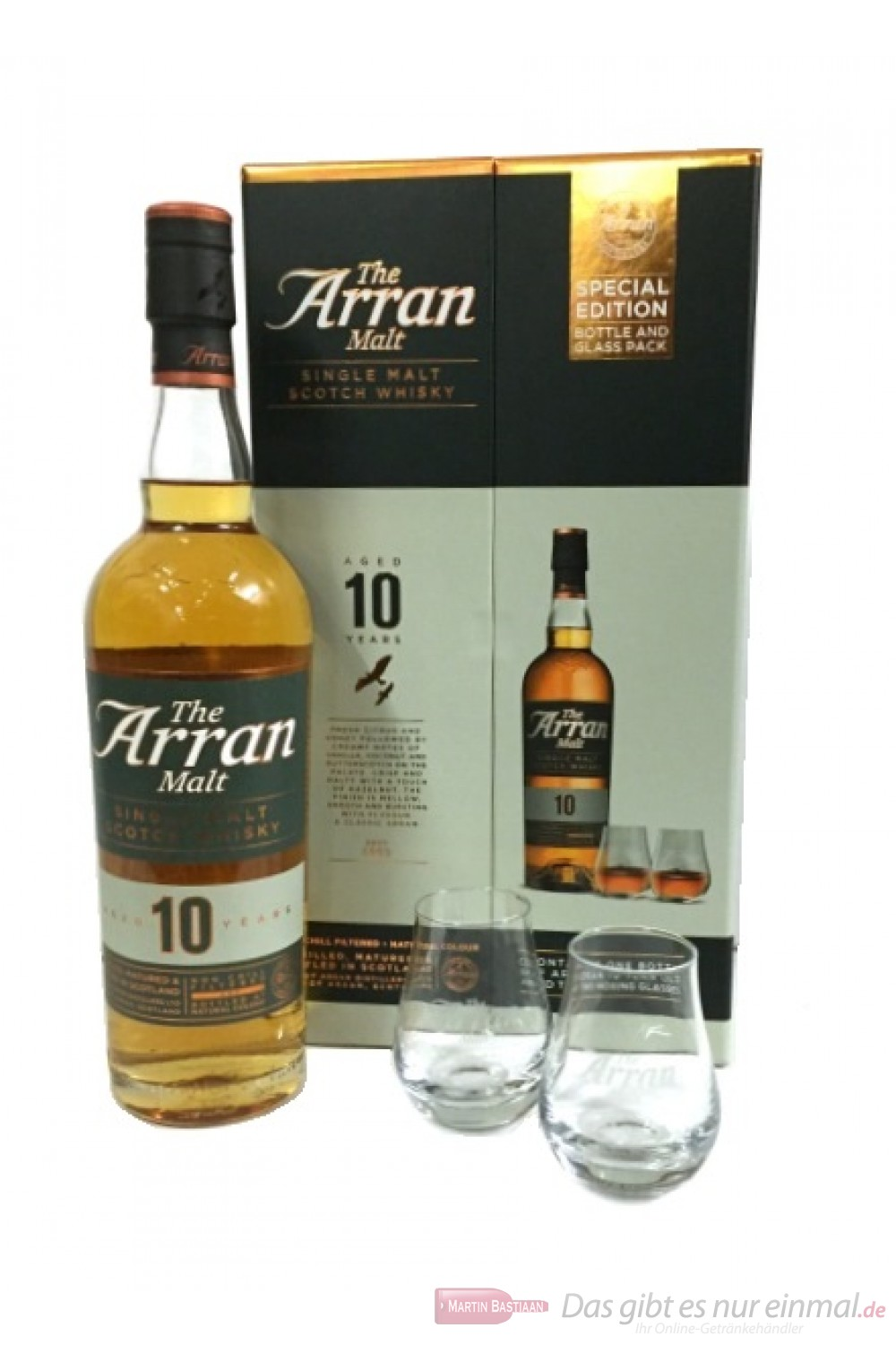 The Arran 10 Years mit 2 Gläsern