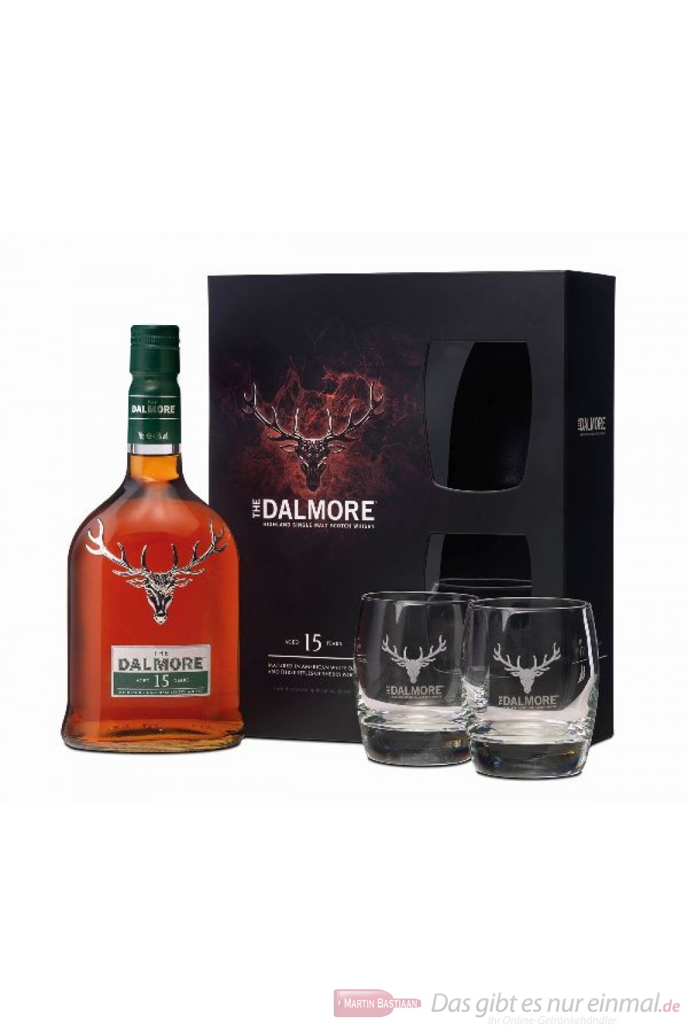 The Dalmore 15 Years mit 2 Gläsern
