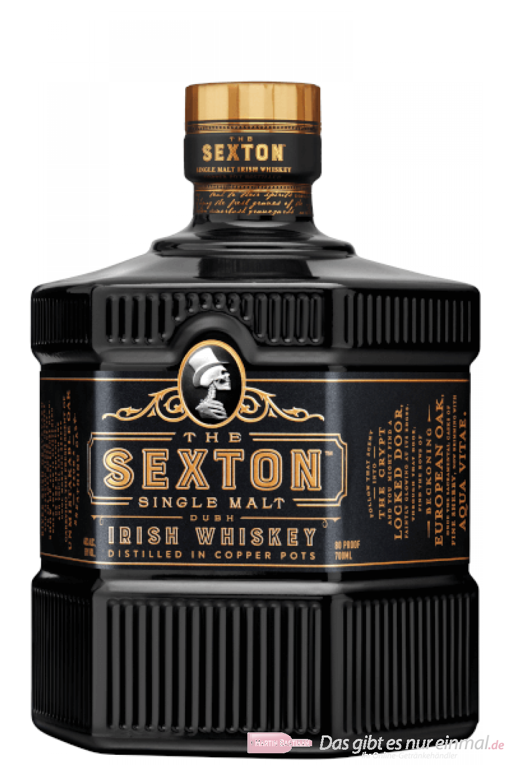 The Sexton Single Malt Irish Whiskey 40% 0,7l Flasche
