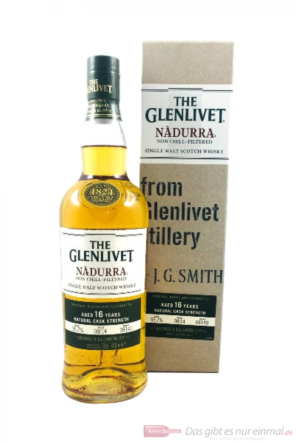The Glenlivet 16 Years Nadurra Natural Cask Strength 55,7%