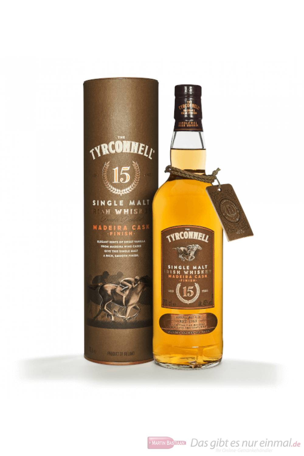 The Tyrconnell 15 Years Madeira Cask Singel Malt Irish Whiskey 0,7l