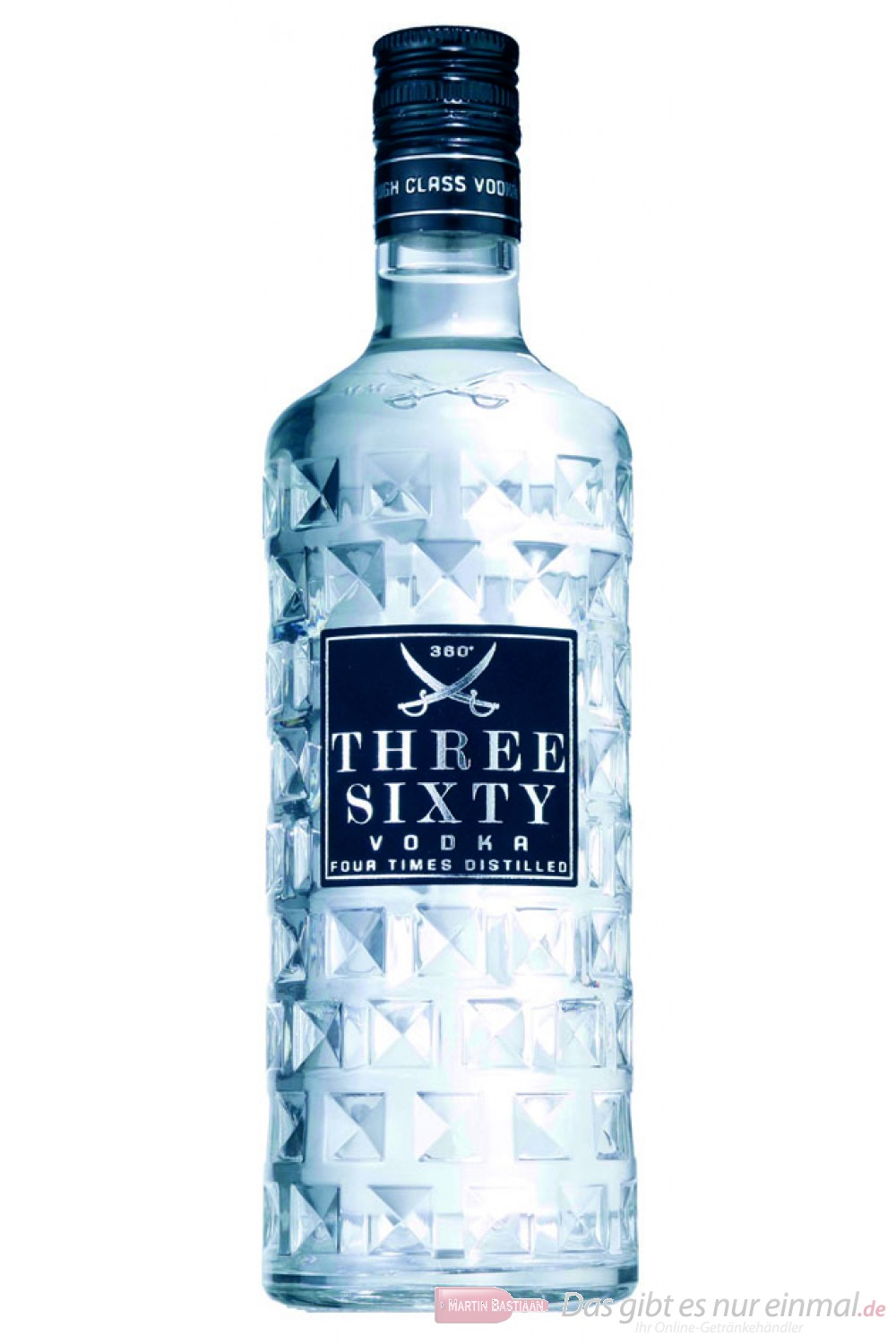 Three Sixty Wodka 37,5 % 1,0 l Flasche