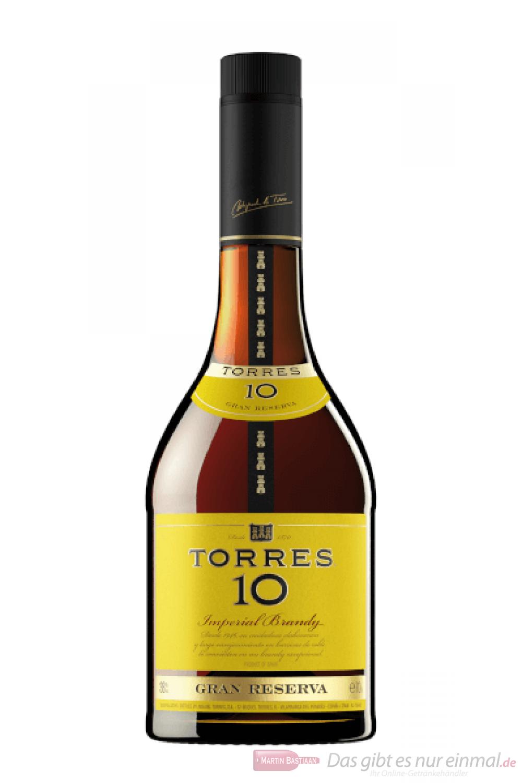 Torres 10 Years Gran Reserva spanischer Brandy 1,0l