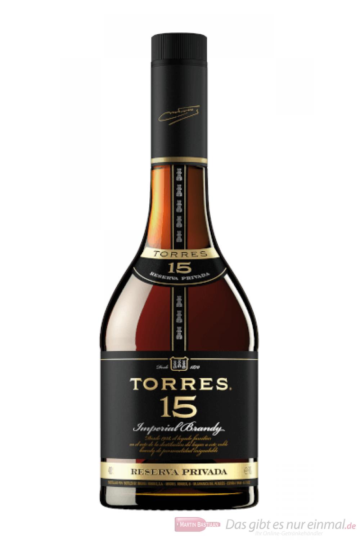 Torres 15 Years Reserva Privada spanischer Brandy in GP 1,0l